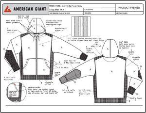アメリカンジャイアント スウェット 設計図