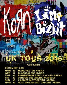 コーン、リンプ・ビズキット、UKツアー